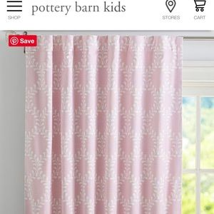 """Pottery Barn Kids """"Evelyn"""" blackout curtains"""